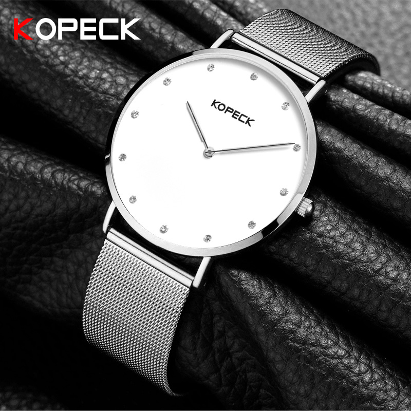 Kopeck Stainless Steel Wristwatch Women Watches Top Brand Luxury Famous Quartz Watch Female Clock Montre Femme Relogio Feminino luxury famous women watch womage brand stainless steel wristwatch ladies watches clock relogio feminino montre femme saat reloj
