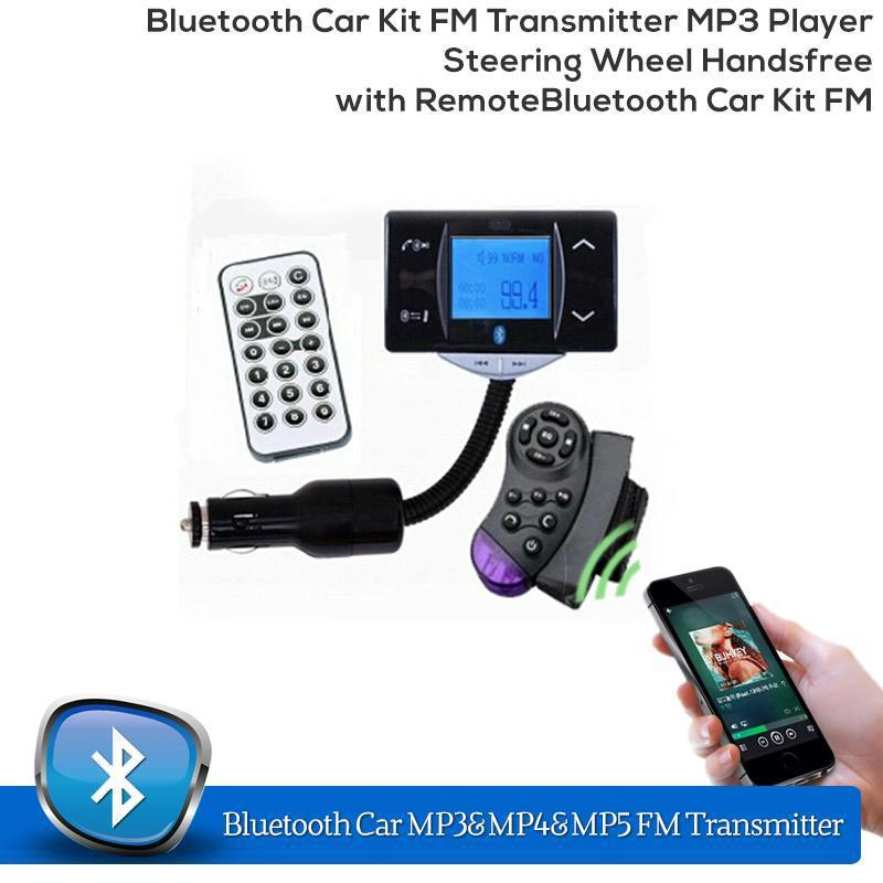 stereo bluetooth car kit fm transmitter mp3 player