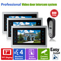 Homefong 7 Inch Wired Door  Video Intercom System Door Phone Record Photo and Video 1V3 Video Security Doorphone 800TVL Night