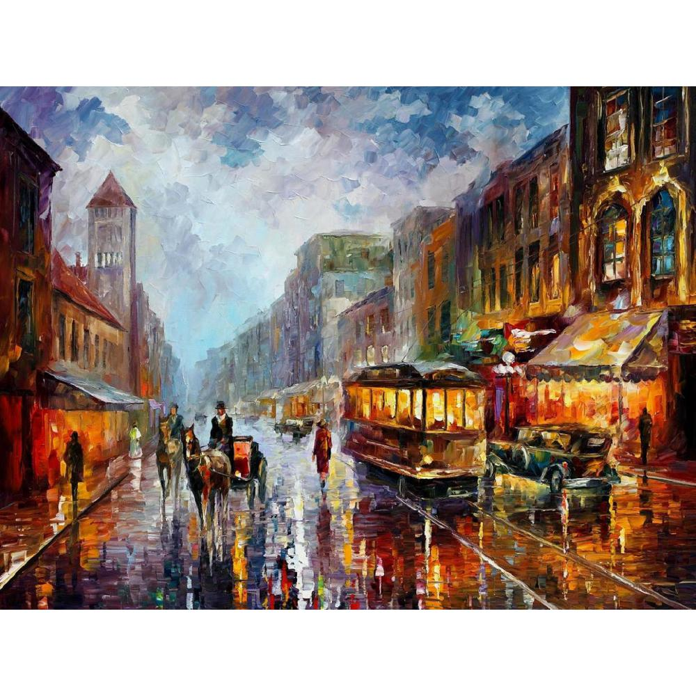 Contemporary art los angeles knife oil painting canvas