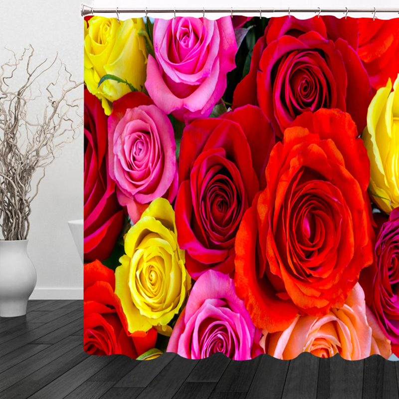 Aliexpress.com : Buy 3D Sexy Red and Yellow Rose Shower ...