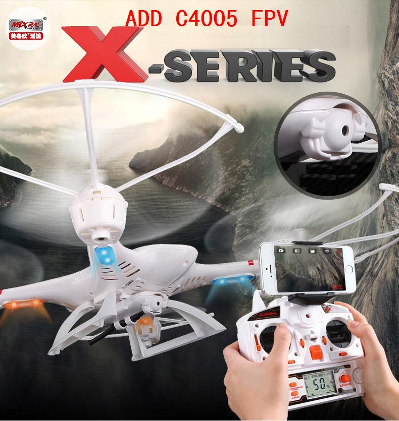 ФОТО MJX R/C Technic X400-v2 2.4G 4CH 6-Axis FPV RC Quadcopter RC Drone With/without C4005 FPV HD camera