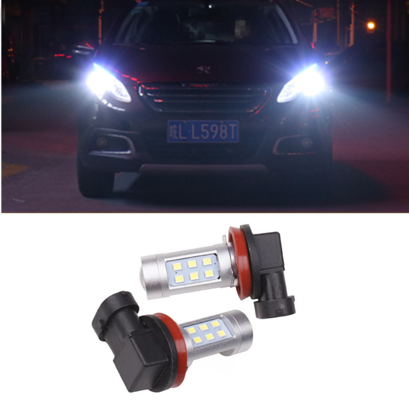 2x H8 H11 Auto LED Fog Lights Daytime Running <font><b>Lamp</b></font> Light <font><b>Lamp</b></font> for <font><b>Peugeot</b></font> 307 206 <font><b>301</b></font> 207 2008 508 <font><b>301</b></font> 3008 image