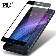 PLV Full Cover Tempered Glass For Xiaomi Redmi 4 4X 4 Pro 4 Prime For Redmi Note 4 Pro Note 4X Screen Protector Toughened Film