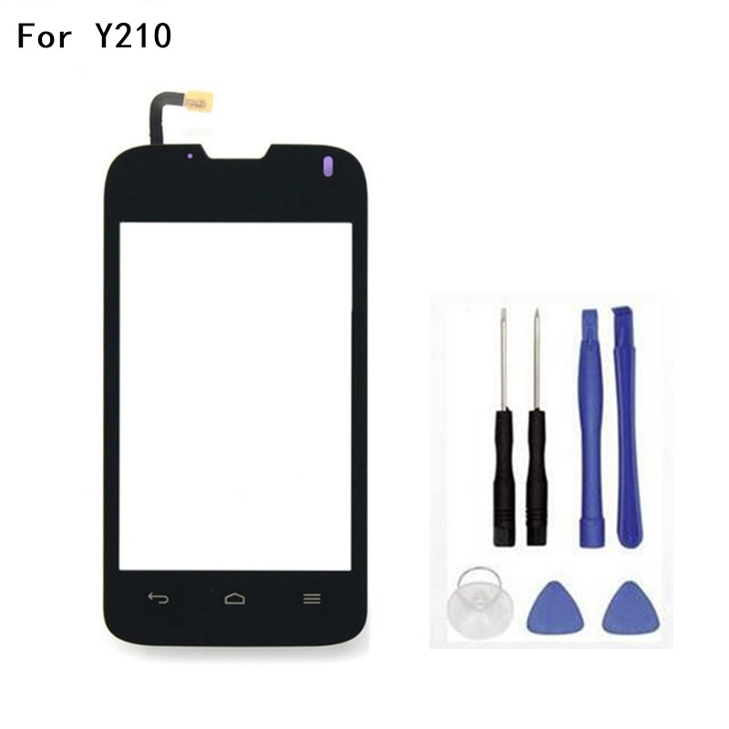 Original For Huawei Y210 Touch screen Digitizer Sensor Glass Replacement Touchscreen Front Window Connect Flex Cable