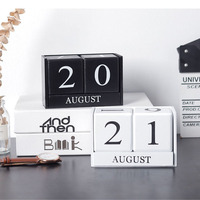 New 2019 Arrivals Small Black White Table Desk Calendar Personalised Cube Blocks Birthdays Diy Board Calendars Office Supplies
