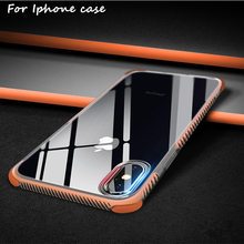 Perciron Case For Iphone 8 7 plus case 6 6s Luxury silicone frame + transparent colour cover for 10 X