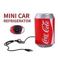 Mini Car Refrigerator Portable Mini Fridge Electric Icebox USB Charging Cable 5V 8W Summer Cars Travel Camping Multi Function