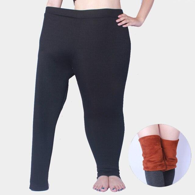 5XL winter thick warm leggings women plus size cashmere super elastic XXXL black high quality