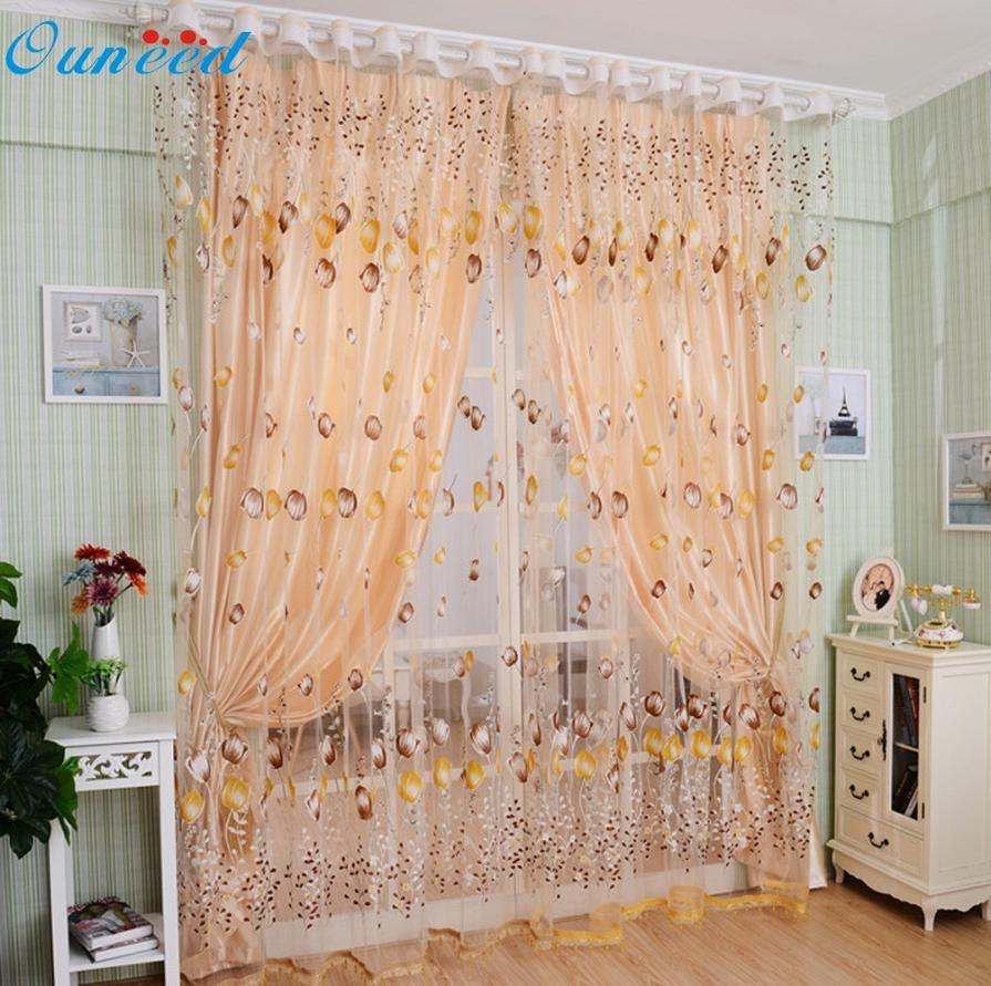 Beaded window panels - Flower Tulle Window Screens Door Balcony Curtain Panel Sheer Scarfs 100cm