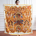 Fashion Women Brand Designer Scarf Summer Autumn Casual Silk shawls and Scarves echarpe 14 styles Bandana 130*130CM