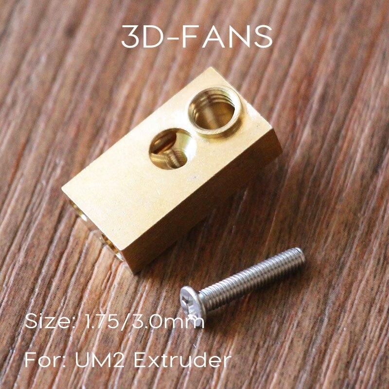 Olsson bloque-1 unid Ultimaker 2 UM2 se E3D calentador de salida Hotend para 3D impresora 1,75mm/3,0mm