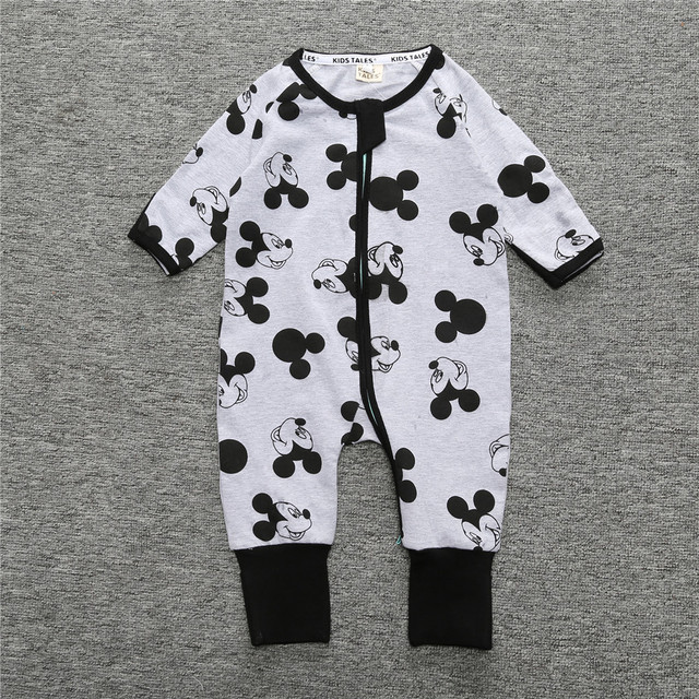 Wasailong Newborn Baby Boy Clothes Infant Romper Long Sleeve Flower Print Baby Girl Rompers Jumpsuit Pajamas Baby Clothing