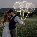 3 шт. многоразовые световой светодиодный шар прозрачные круглые декоративные пузырьки вечерние платья для свадебных торжеств для дома и в ч...