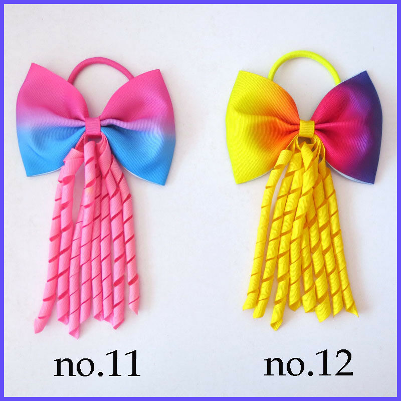 100 BLESSING Good Girl Boutique Colorful Stylish Corker Ponytail Elastic Hairbow