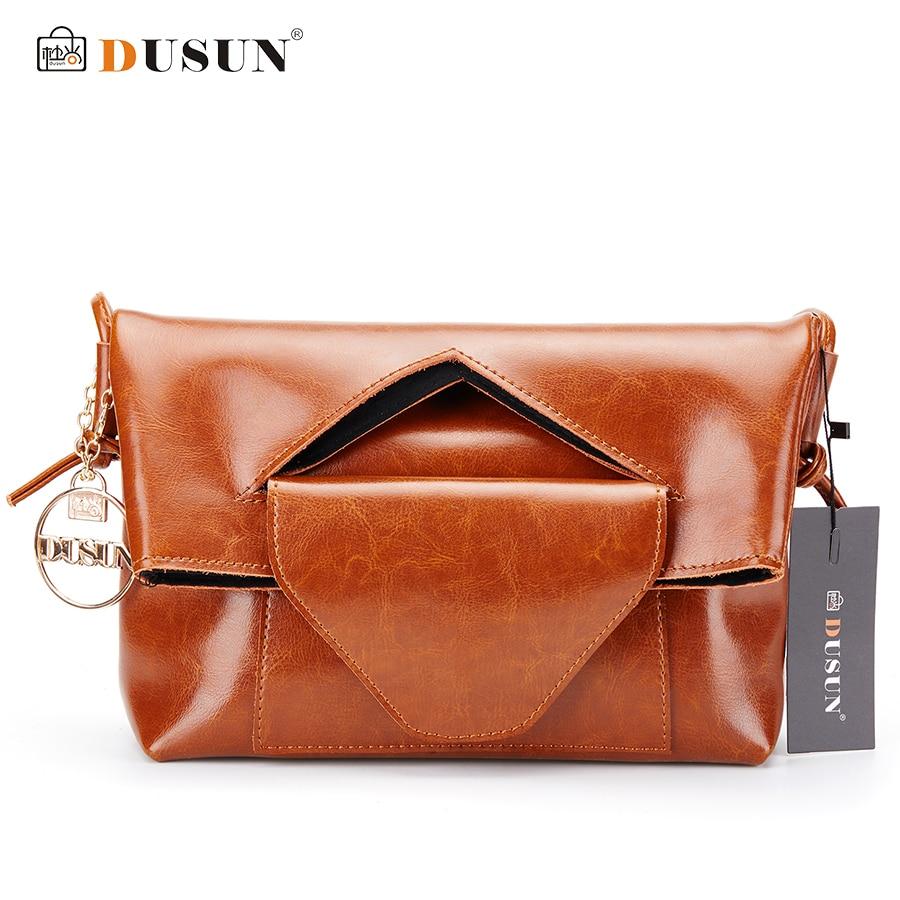 DUSUN font b Women b font Deformable Shoulder Messenger Handbag Genuine Leather font b Women b