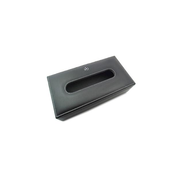 Caja de pañuelos coche del coche vino tinto tejido mesa moda servilleta caja de papel del coche logo para Audi BMW NissanToyota VW Mazda Car styling