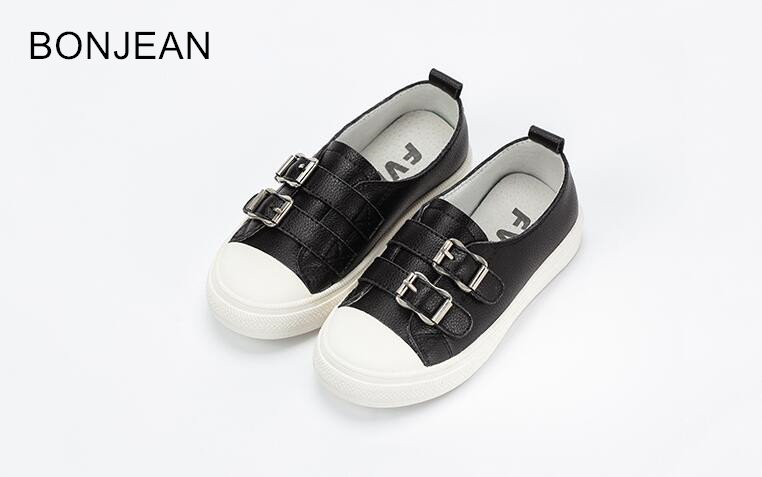 2018 Children's leather whiteboard shoes girls shoes spring and autumn leisure sports boys Korean wild tide g35 shoes 2018 spring sports and leisure trend van gogh wind shoes