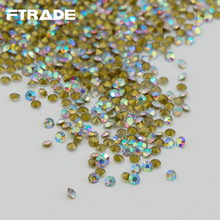 Super Shiny!SS4-SS30 Clear Crystal AB Color Point Back Rhinestones Crystal Chatons Stones Strass For jewelry for nail art Stones(China)