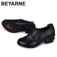 BEYARNE Genuine Leather Flat Shoes Woman Loafers 2016 New Fashion Women Casual Single Shoes Women Flats