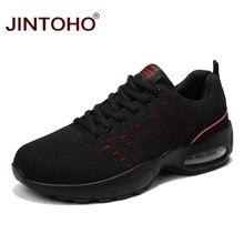 JINTOHO спортивная обувь для мужчин дышащие черные кроссовки для мужчин дешевая мужская спортивная обувь уличная прогулочная обувь мужские кроссовки