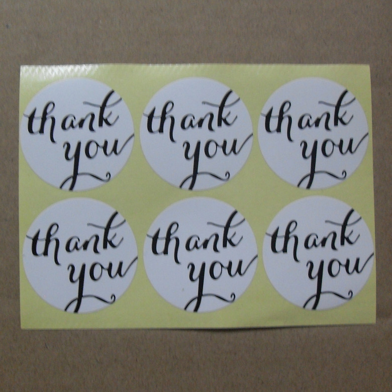 Thank you Adhesive packaging Sealing stickers Gift Bag box bottle label White Material Sticker 100pcs/lot Round 30mm