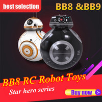 Star hero BB8 Wars Remote Control Robot Ball Toy BB 8 Droid RC BB 8 BB 9E Last Jedi Distance Control Children Educational Toys