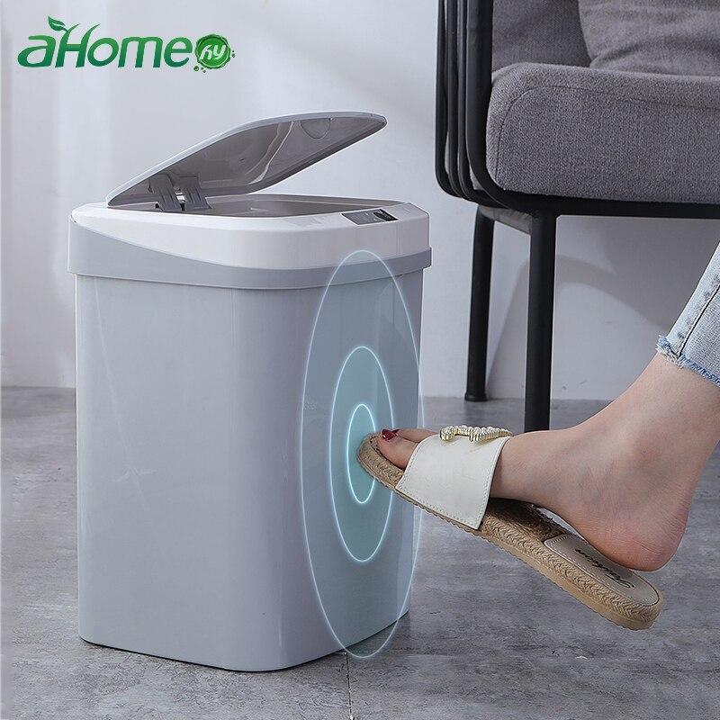 Домашняя Интеллектуальная Автоматическая Индукционная электрическая корзина для мусора, умные мусорные ведра, пепельница, емкость, аккумулятор, версия мусорного бака