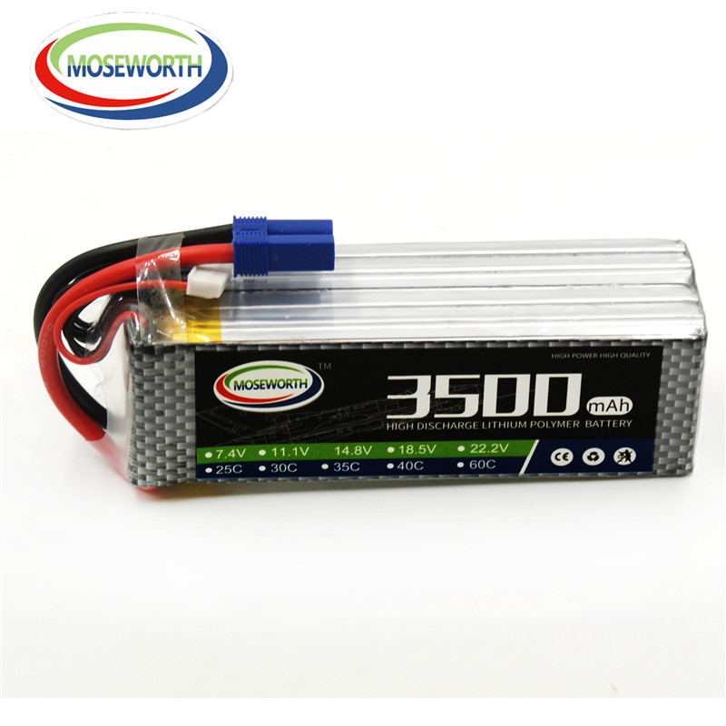 MOSEWORTH 5S 18.5v 35C 3500mAh RC Drones Lipo Battery with TX60 Plug for Model Airplane RC LiPo Batteries 1s 2s 3s 4s 5s 6s 7s 8s lipo battery balance connector for rc model battery esc