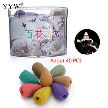 Floral Incense Cone Colorful Fragrance Scent Use In Burner Fresh Air Tower Mixed Aromatherapy Aroma Spice