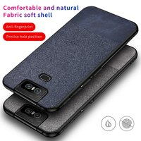 Tela de lujo textura caso para Asus Zenfone 6 2019 caso cubierta de teléfono de tpu suave para Zenfone 6 ZS630KL 6Z Fundas de protección completa