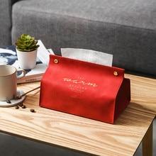 Держатель для салфеток Ins, Скандинавская кожаная коробка для салфеток, диспенсер для бумаги, держатель для салфеток, чехол для украшения дома и офиса