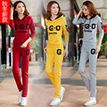 Ms. Spring and Autumn new casual sportswear piece suit fashion big yards Slim thin section tide