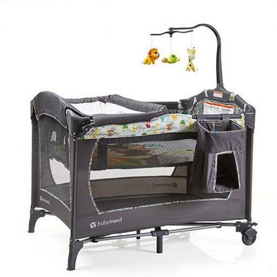 plegable cama de beb cuna porttil hierro cuna del recin nacidochina