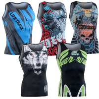 Multi Function Men S Compression Tight Shirts Sleeveless Full 3D Print Tank Tops For Man Males