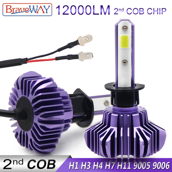 BraveWay H1 LED Light Bulbs for Car Light Bulbs Auto Headlight H4 60W HB3/9005 BH4/9006 LED H4 12000LM Led H1 H7 H11 Auto Light braveway h7 led h4 headlight bulbs for car h1 h11 hb3 hb4 9005 9006 light 1860 chips 12000lm 6500k 60w 12v auto fog lamp led kit