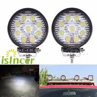 2Pcs 12V 24V 27W LED Car Work Light Bar Lamps Car Styling SpotLight Bar LED Car