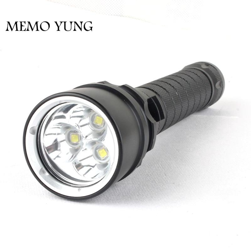 چراغ قوه غواصی 3000LM CREE XM-L2 با روشنایی - روشنایی قابل حمل
