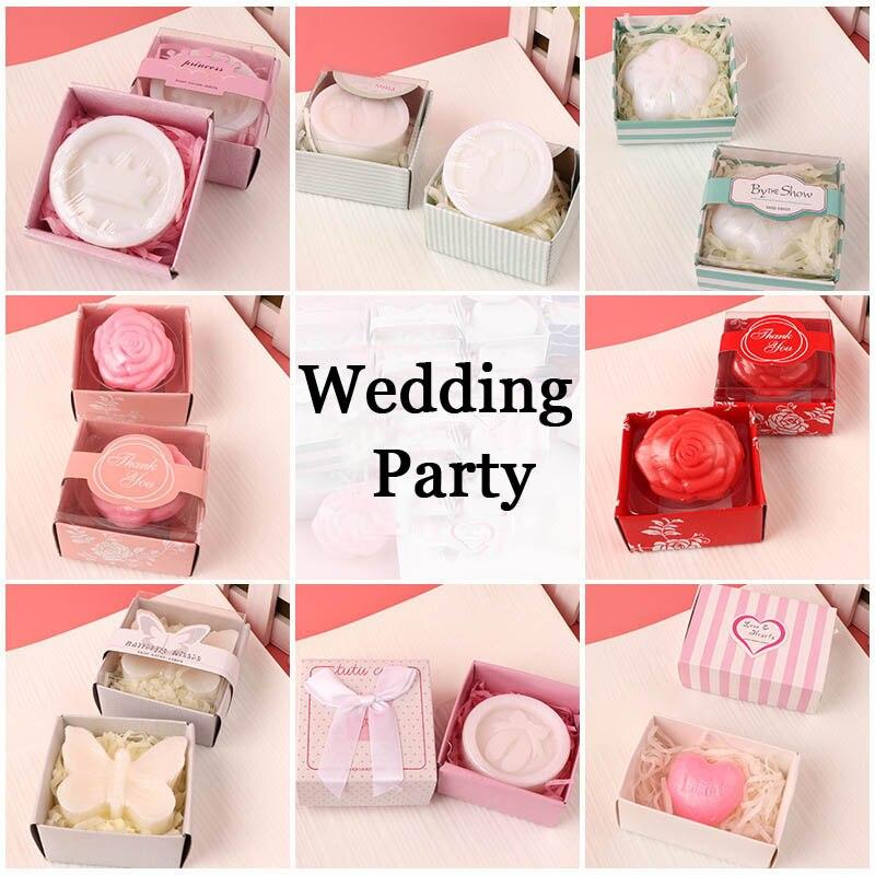 20 шт./лот мини-мыло ручной работы с ароматом для сувенир для свадебной вечеринки и детского душа подарок Свадебные сувениры Мыло для купания