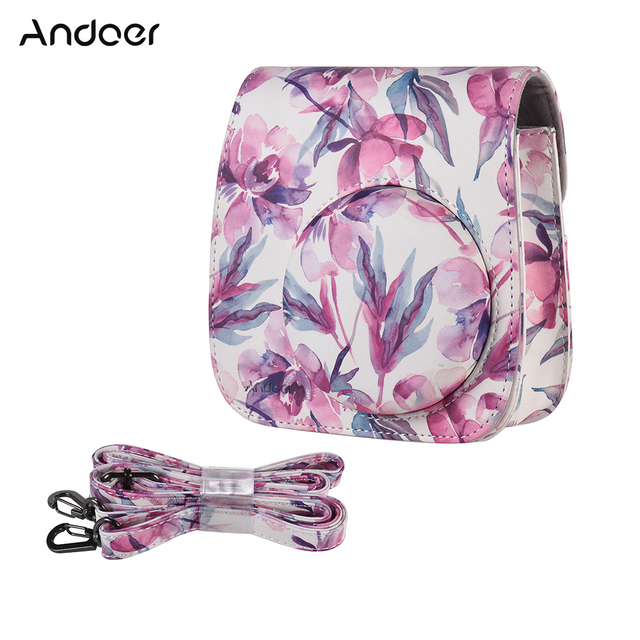 Andoer Camera Bag Case Cover for Fujifilm Instax Mini 9 Mini 8 Mini 8+ Mini8s Mini 8 Instant Film Photo Camera PU Case Cover