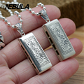 925 Sterling Silver Vintage Harmonica Pendant Necklace Jewelry For Men Wonmen Punk