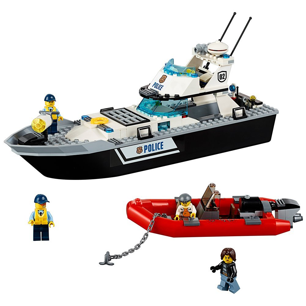 LEPIN City Police Patrol Boat Building Blocks Sets Bricks Classic Model Kids Toys For Children Technic Gift Compatible Legoe kazi 6726 police station building blocks helicopter boat model bricks toys compatible famous brand brinquedos birthday gift
