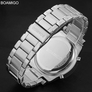 Image 4 - BOAMIGO Top Luxury Brand Men Military Sports Watches Mans Alloy Led Digital Watches Male Waterproof Wristwatches Reloj Hombre