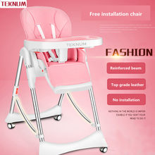Wheels baby dining chair multifunctional folding portable child baby dining table chair baby sleeping position 4 colors(China)