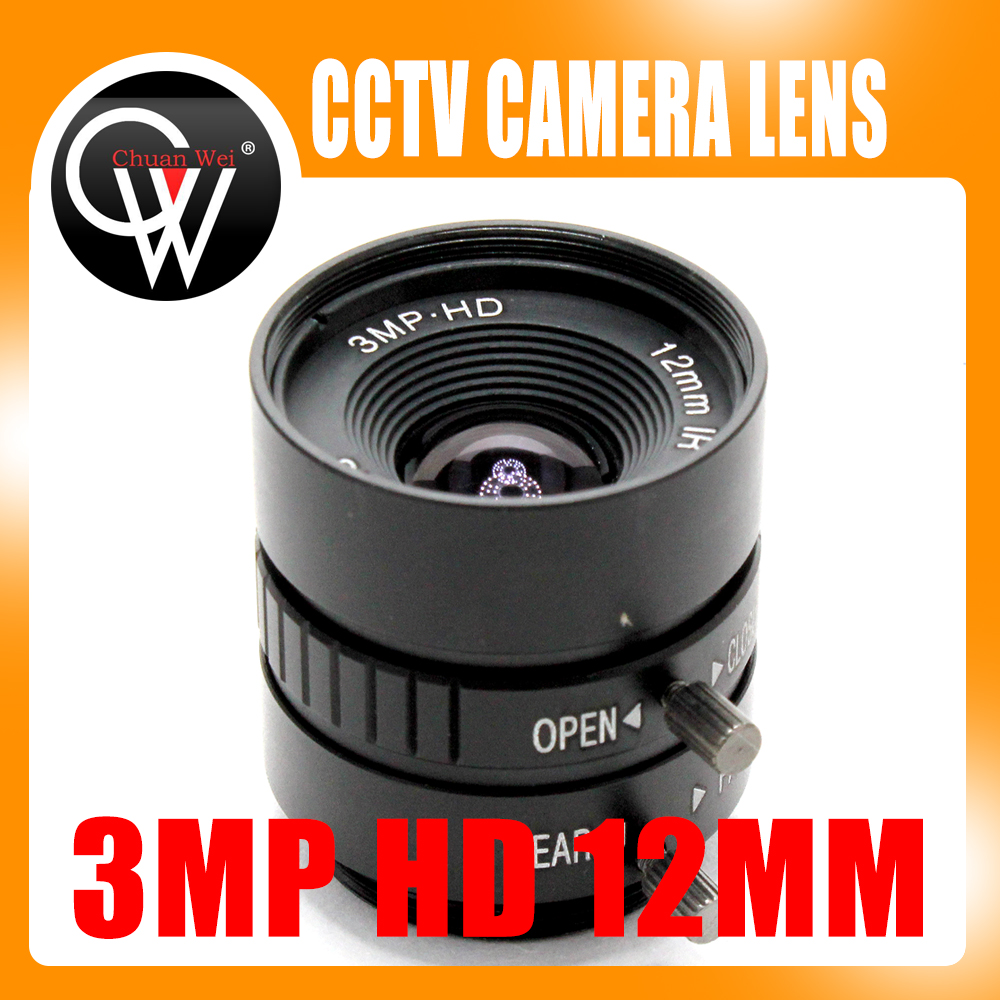 3MP HD 12mm lens Manual 1/2 Iris C Mount Industrial lens CCTV Camera Lens for HD Camera ip camera 3mp 4 18mm cctv lens manual iris varifocal 1 1 8 inch c mount industrial lens for imx185 1080p box camera ip camera