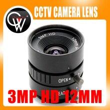 3MP HD 12 мм объектив руководство 1/2 Iris C крепление промышленных объектив CCTV Камера объектив для HD Камера IP-камера