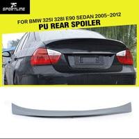 Car Styling PU Rear Trunk Boot Lip Spoiler Wing for BMW 3Series E90 325i 328i E90 Sedan 2005 2012