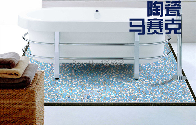 Spedizione gratuita! blu ceramica smaltata mosaico piastrelle