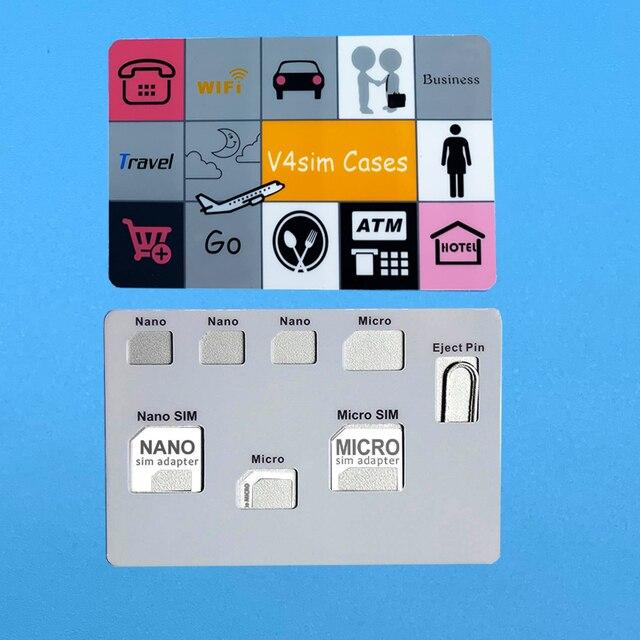 Sim kaart Adapter set & NANO SIM Kaarthouder Case met telefoon Pin naald Kwaliteit sim, converter set voor nano micro sim kaart