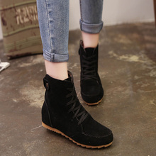 Autumn and Winter Boots Snow Boots for Women Martin Boots Suede Leather Boots Couples Shoes Cotton Free Shipping 4 Colors